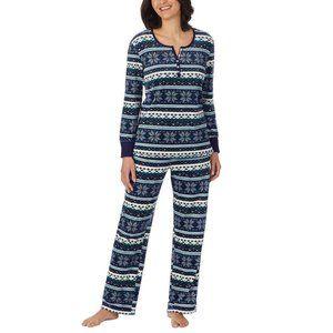 Nautica Women's 2Piece Fleece Pajama Sleepwear